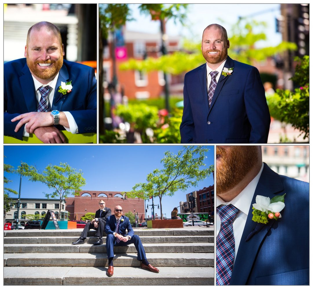 Groom at Westin - wedding pictures - portland, maine