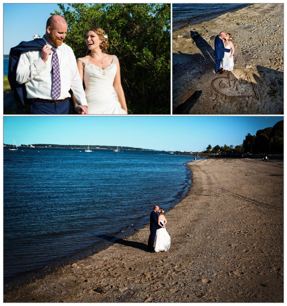 wedding pictures eastern promenade - portland, maine