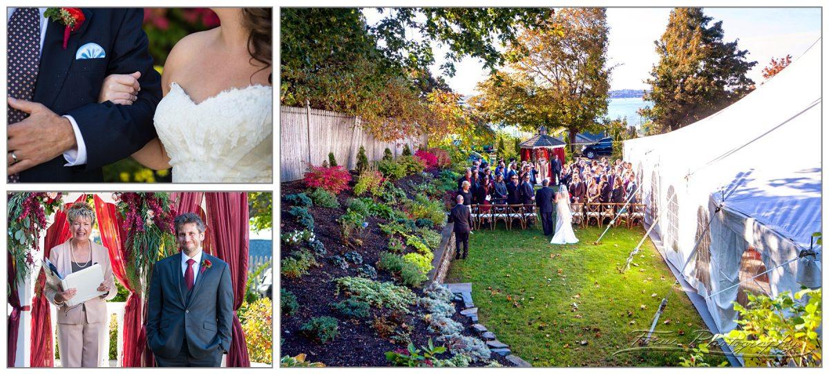 wedding ceremony at Inn on Peaks Island