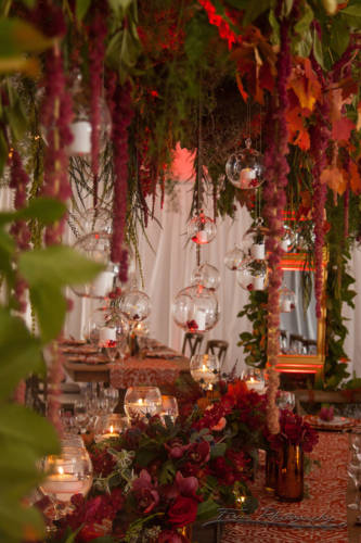table decor at inn on peaks wedding