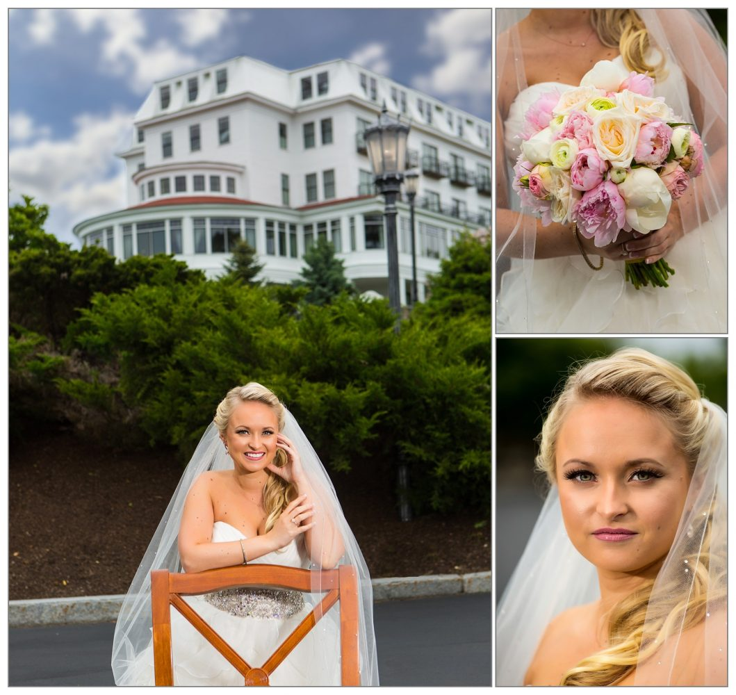 portraits of bride by Wenworth by the Sea wedding photographers Focus Photography - at New Castle,, NH