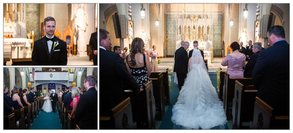 Church Ceremony at Cathedral of Immaculate Conception in Portsmouth, New Hampshire wedding