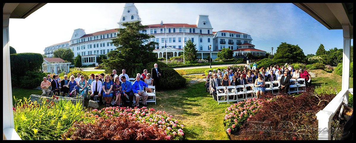 This Panorama Shows The Regal Wentworth By Sea Behind Wedding Guests Just Before Ceremony Began