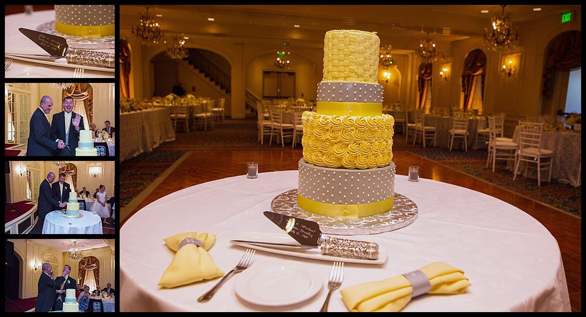 wedding cake and cutting