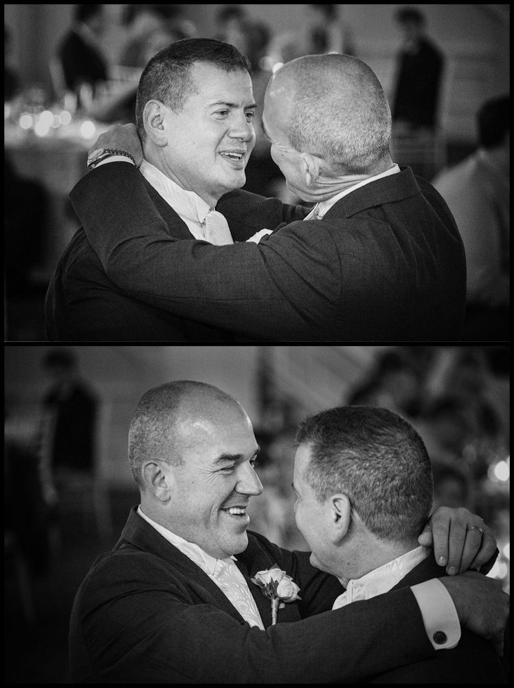 the two grooms first dance together at Wentworth by the sea hotel | same sex wedding