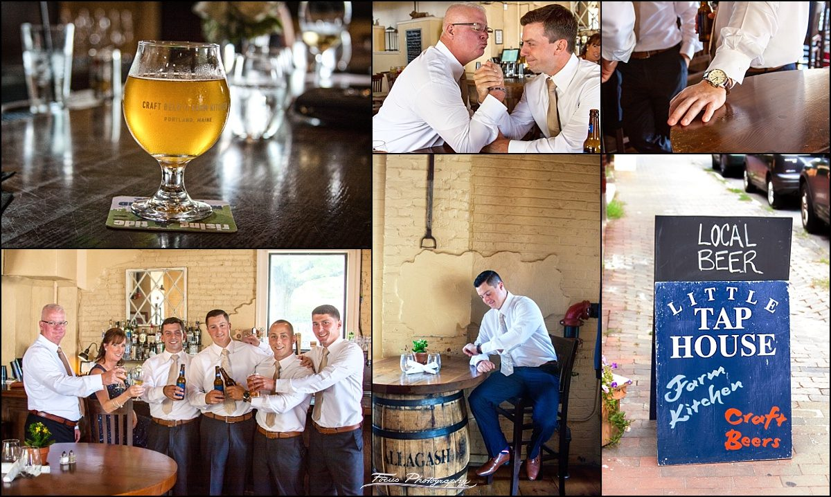 groom stops by Little Tap House before ceremony