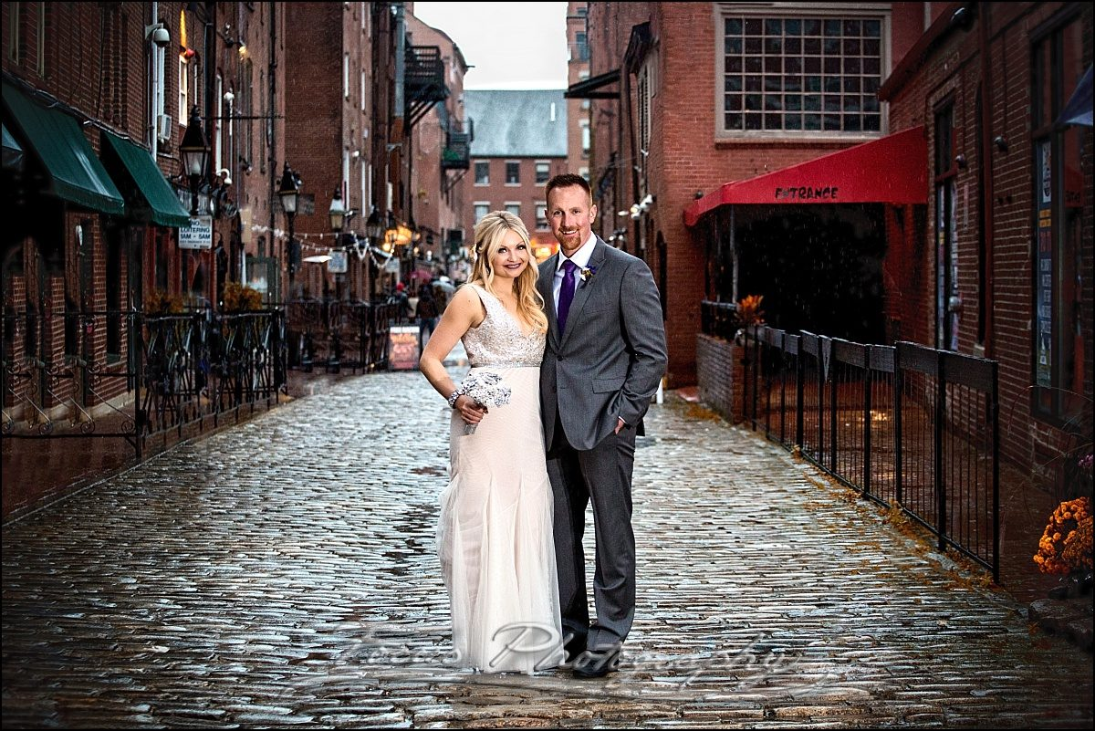 Portland Maine wedding photography at wharf street in old port
