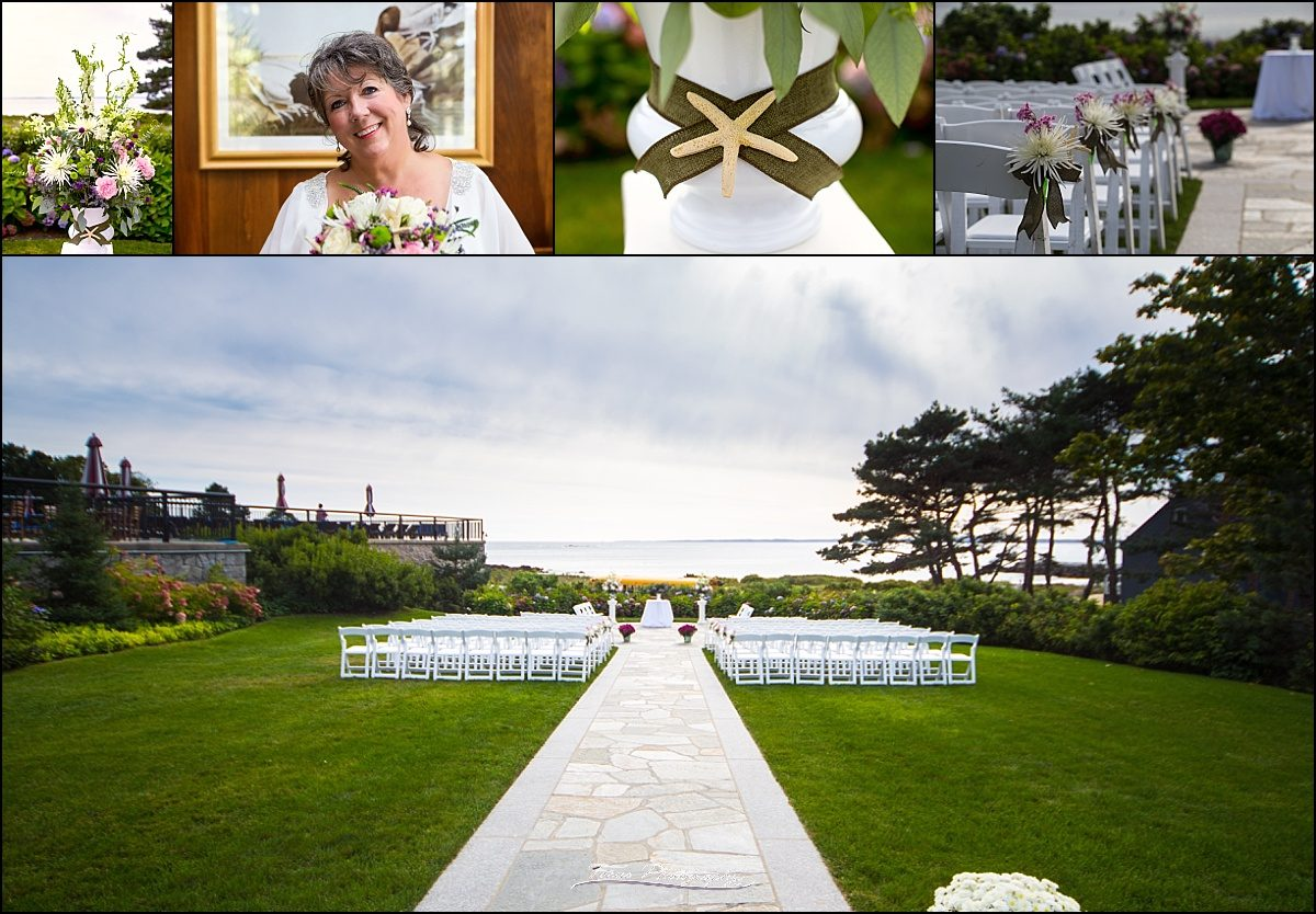 ceremony site at Colony Hotel wedding - Kennebunkport, Maine
