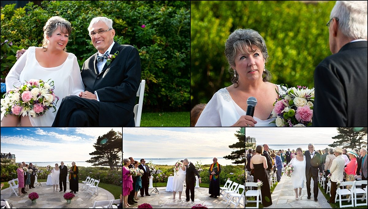 ceremony details at Colony Hotel wedding - Kennebunkport, Maine