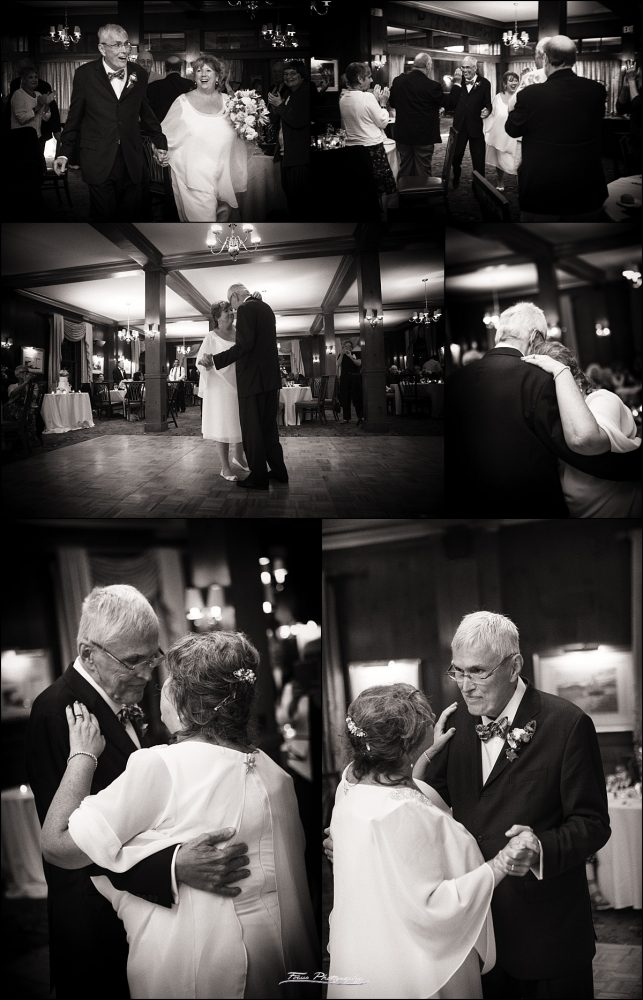 first dance in black and white pictures at Colony Hotel wedding - Kennebunkport, Maine