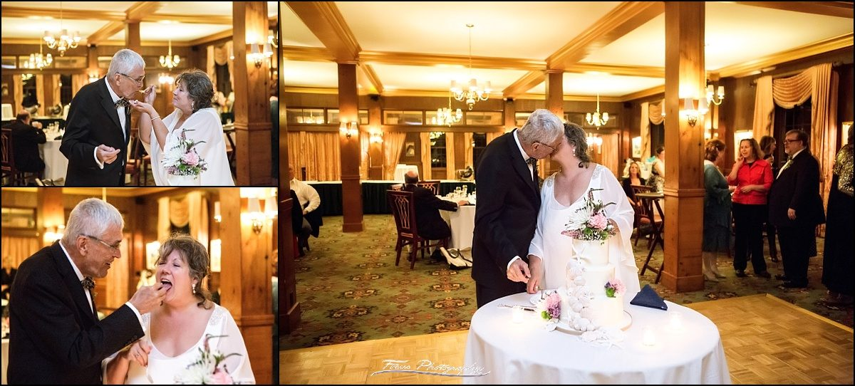 cake cutting in ballroom