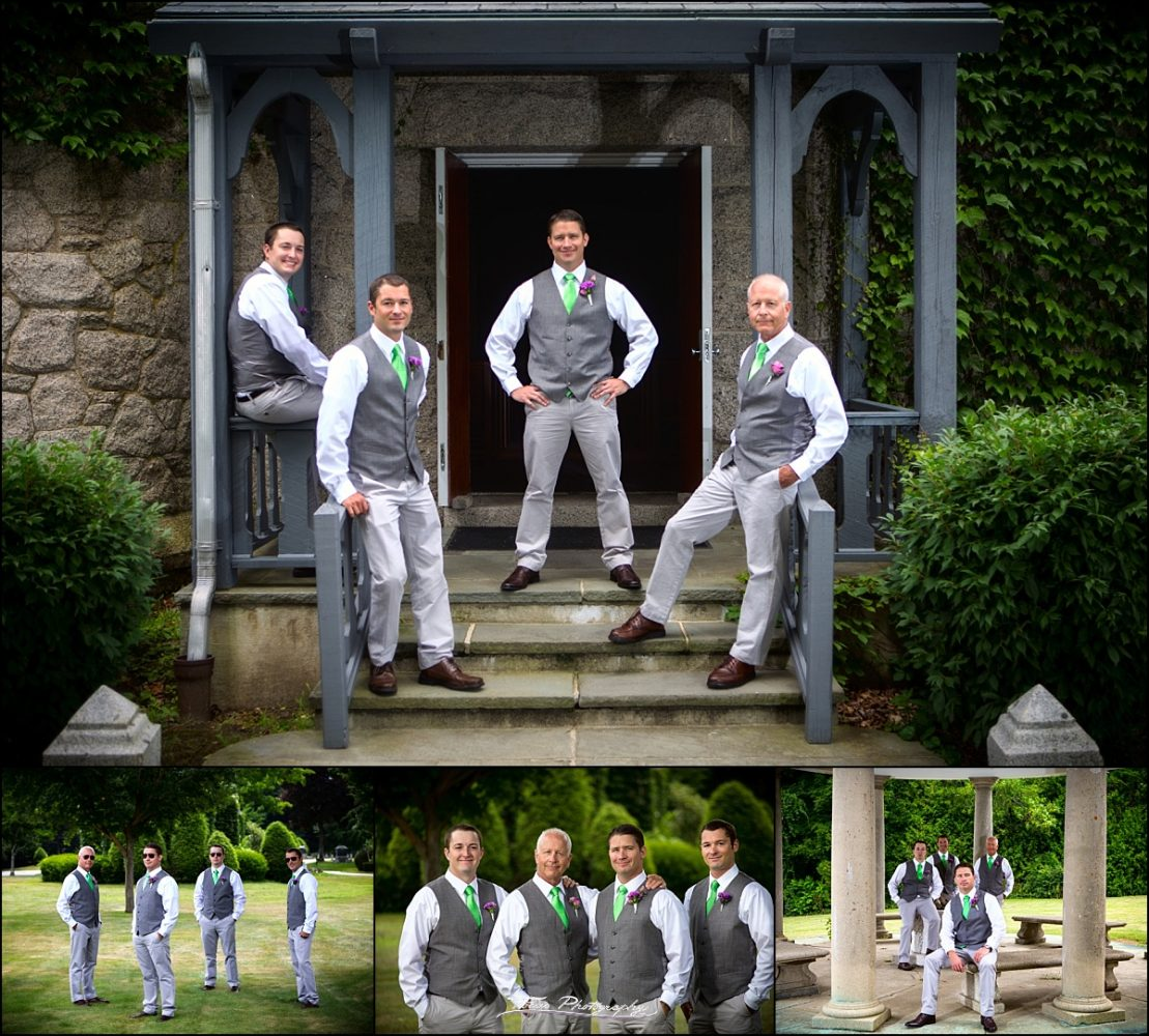 groomsmen at Dunegrass Golf Club Wedding in Old Orchard Beach, Maine