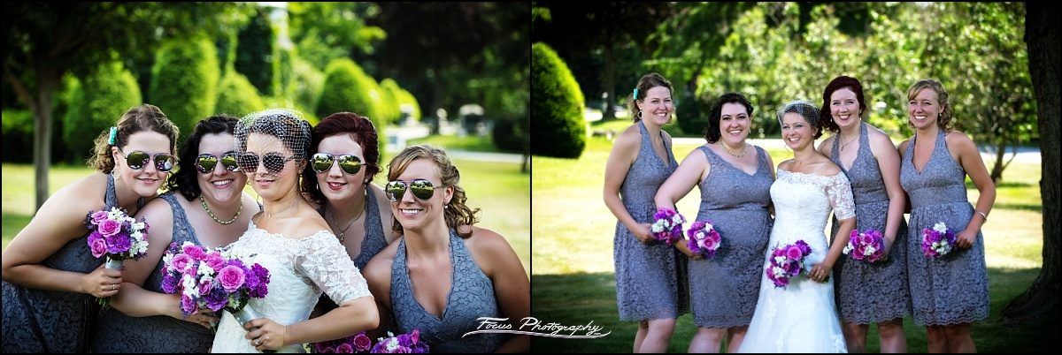 bridesmaids at Dunegrass Golf Club Wedding in Old Orchard Beach, Maine