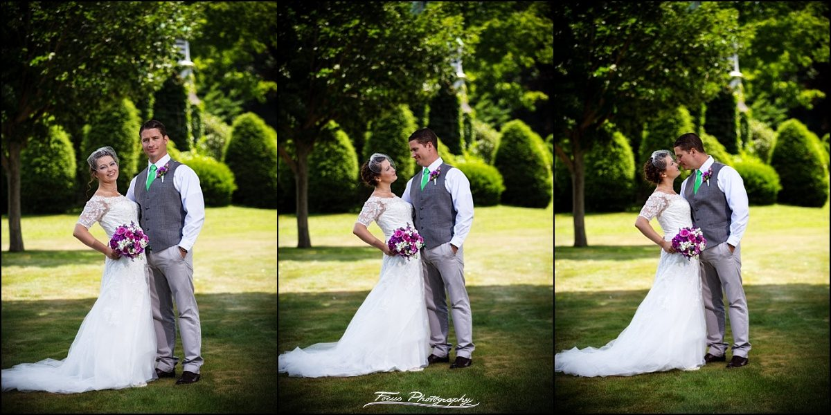 couples portraits on grounds at chapel in saco, maine