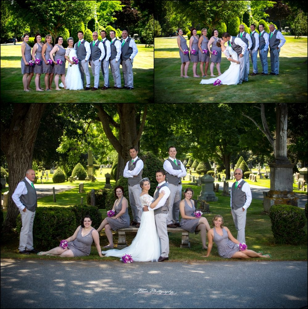 Bridal party at Saco Maine cemetary