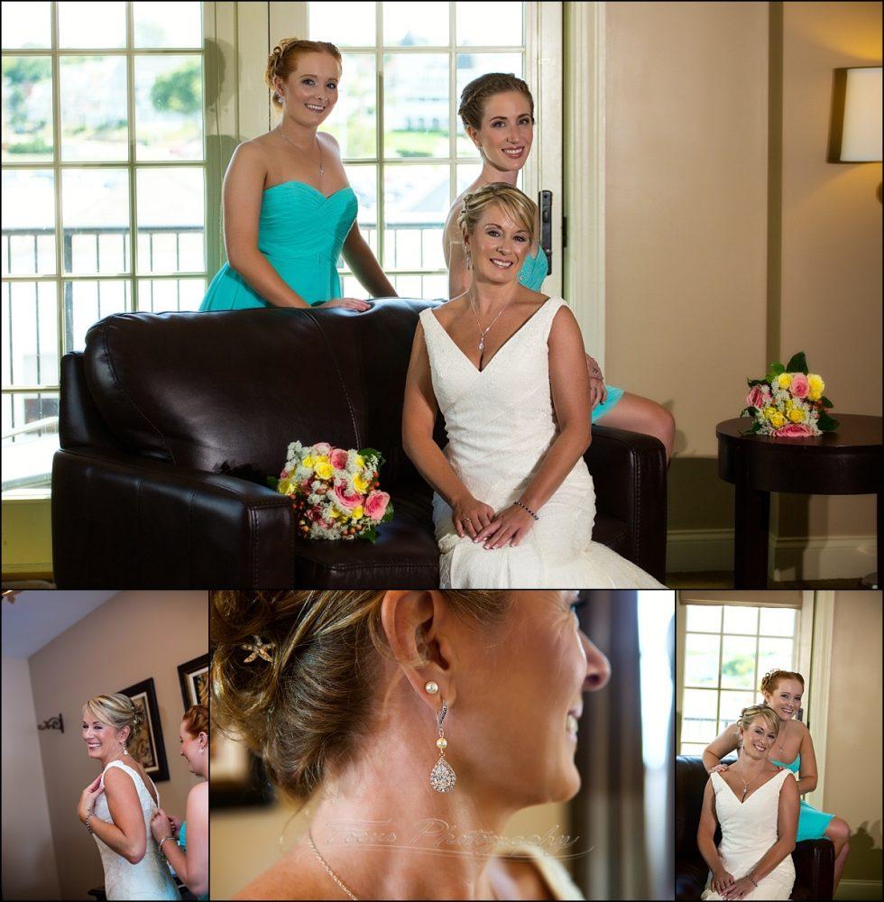 Union Bluff Meeting House wedding prep