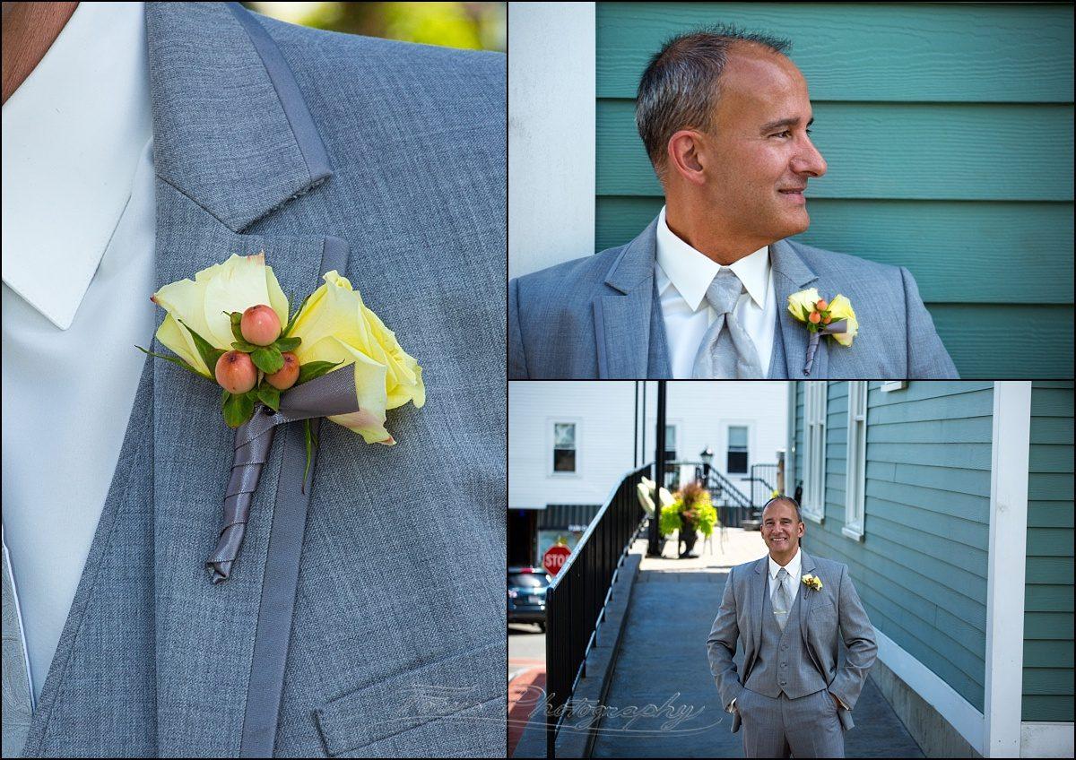 Union Bluff Meeting House groom at wedding