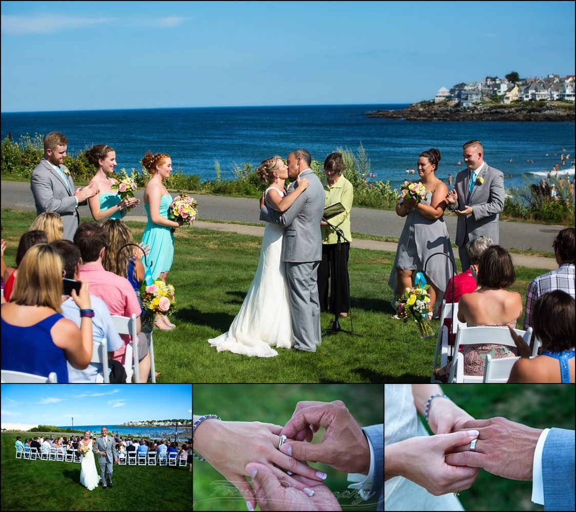 wedding ceremony at Union Bluff Meeting House