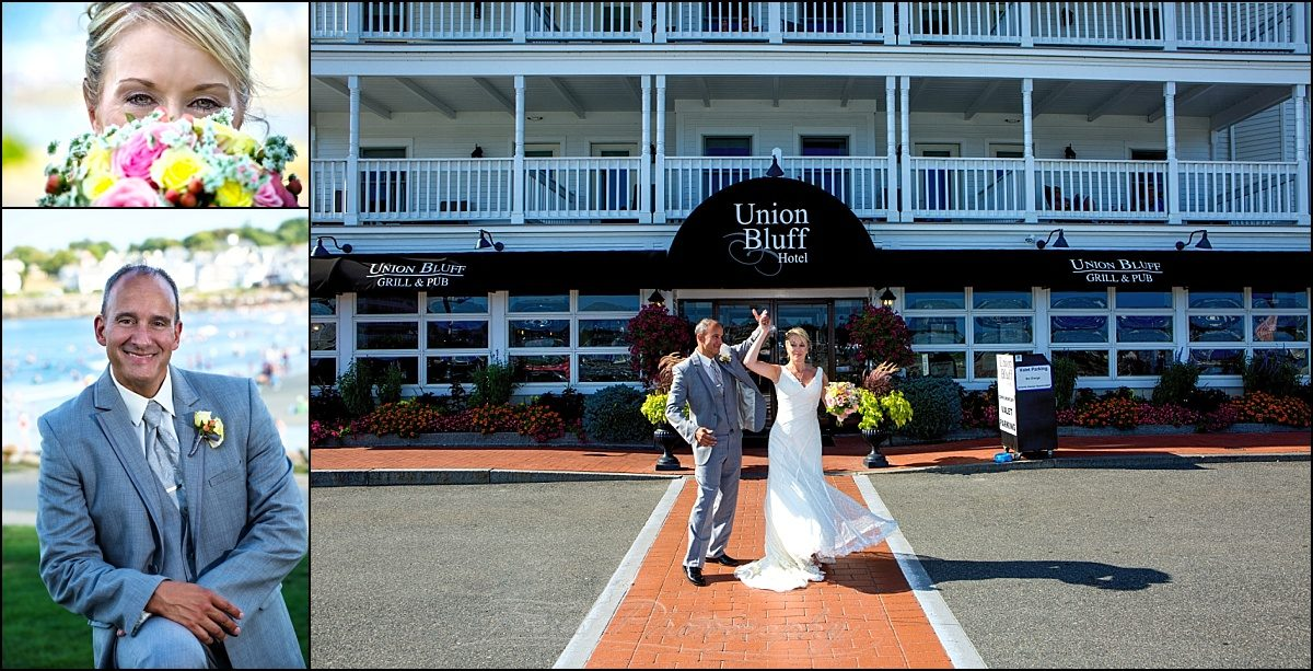 Union Bluff Meeting House wedding couple