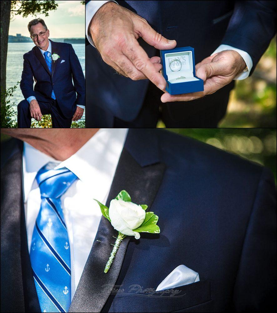 portland, maine | Peaks Island wedding groom