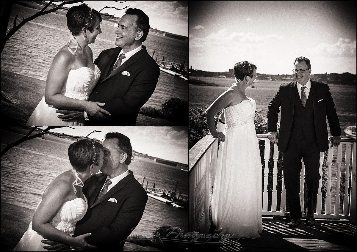 portland, maine | Peaks Island wedding couple black white
