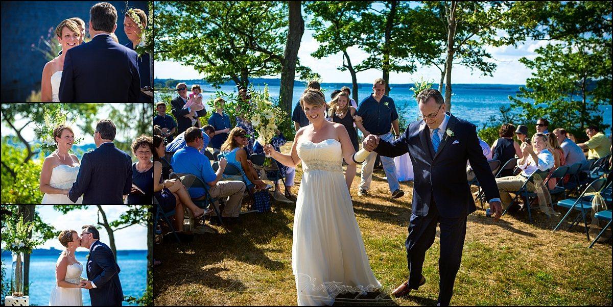 portland, maine | Peaks Island wedding ceremony at lions club