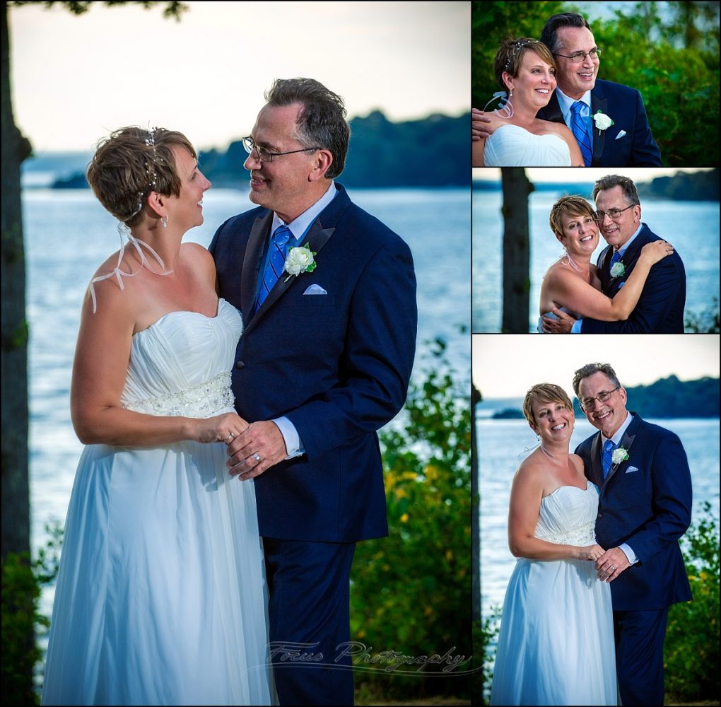 portland, maine | Peaks Island wedding couple at ocean