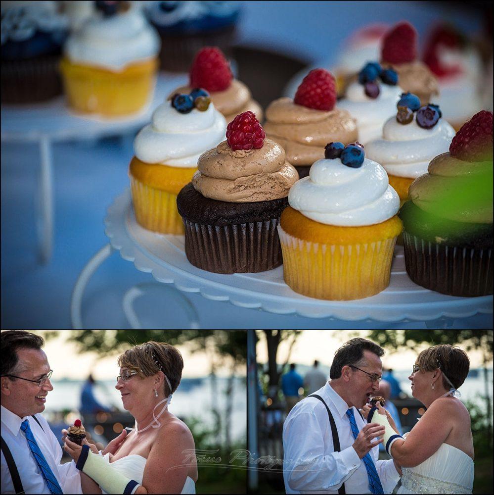 portland, maine | Peaks Island wedding cupcakes