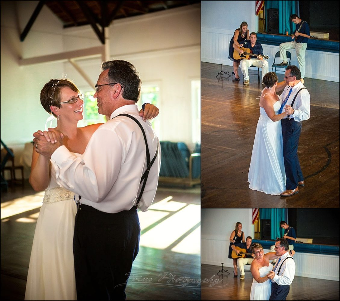 portland, maine | Peaks Island wedding first dance - music provided by their children