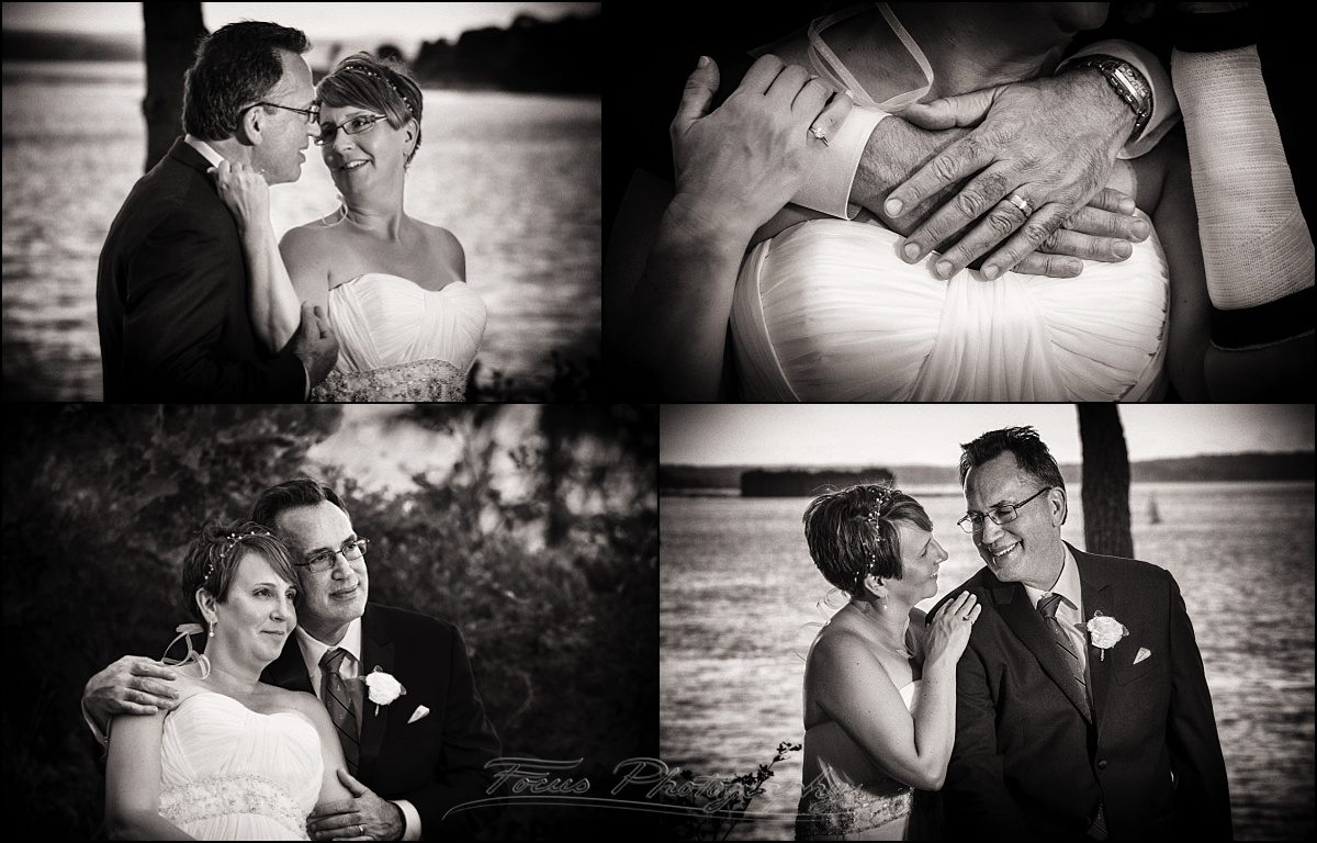 portland, maine | Peaks Island wedding couple black and white