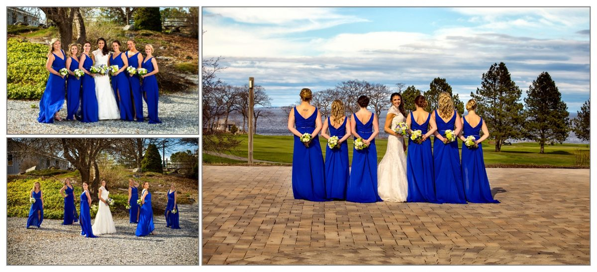 bridesmaids from Samoset Resort wedding in Rockport, Maine