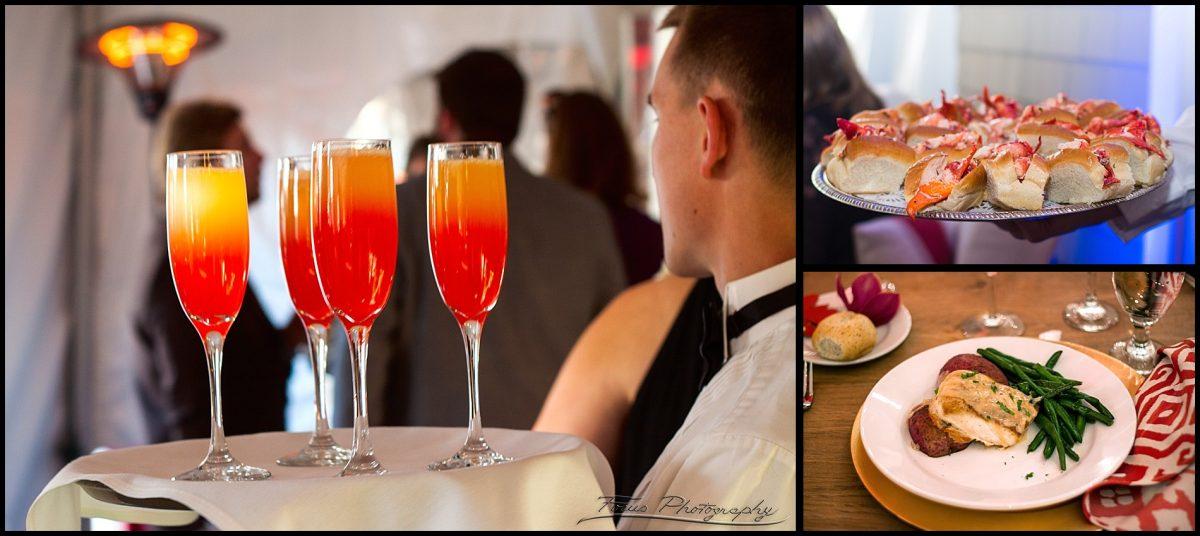 wedding cocktails and food at Inn on Peaks wedding