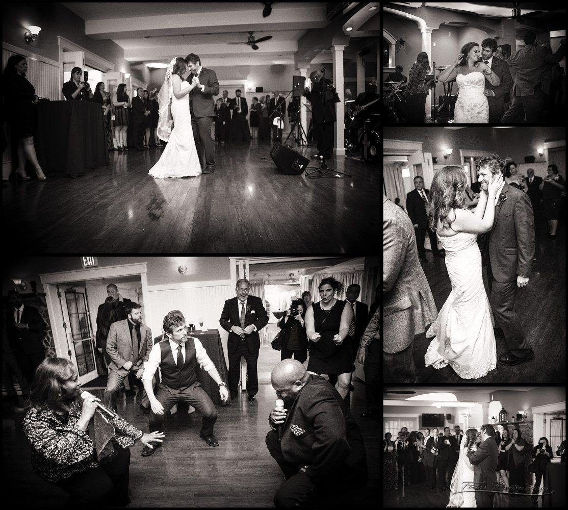 dancing at Inn on Peaks wedding