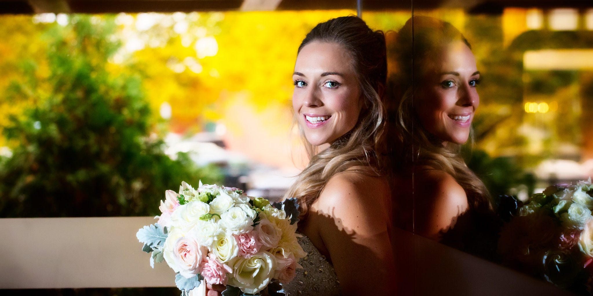 wedding portrait of bride at Westin Portland downtown