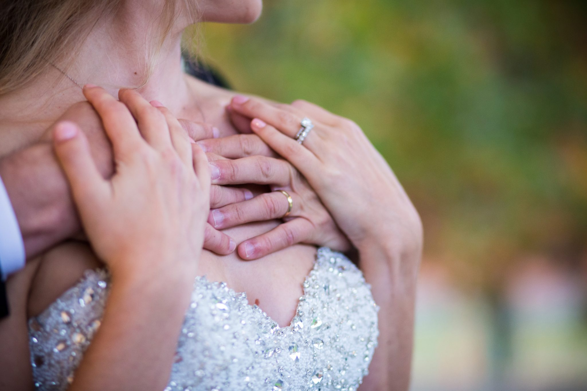 Wedding couple and rings