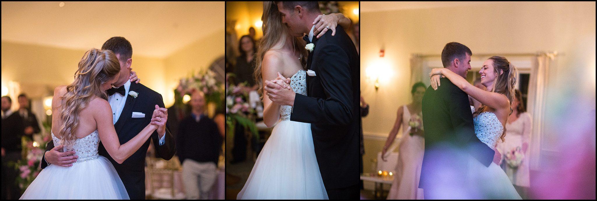First Dance for wedding couple at Dunegrass Golf Club wedding