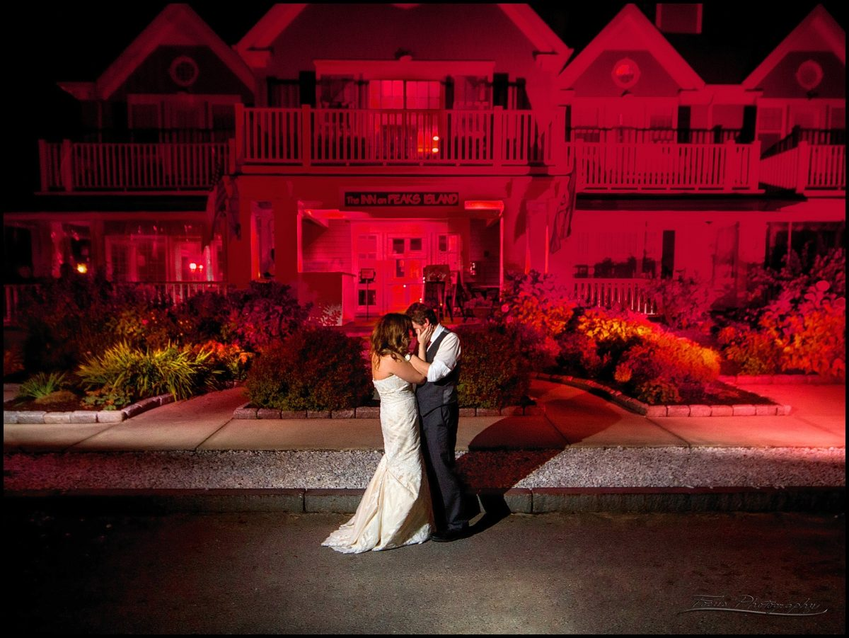 couple at end of night at Inn on Peaks wedding