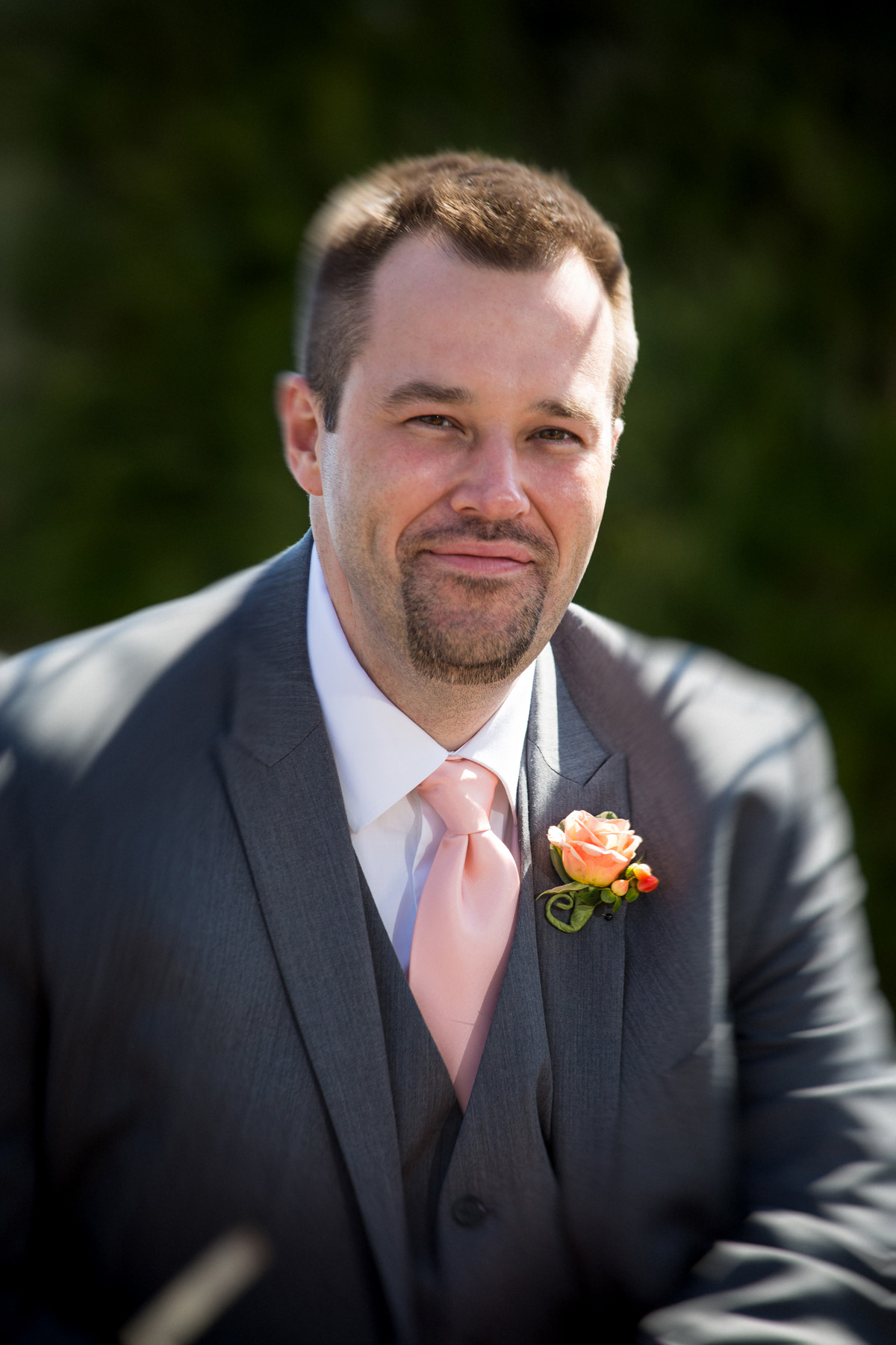 Wedding portrait of groom at Samoset Resort in Rockland, Maine.  Wedding photographer Will of Focus Photography.