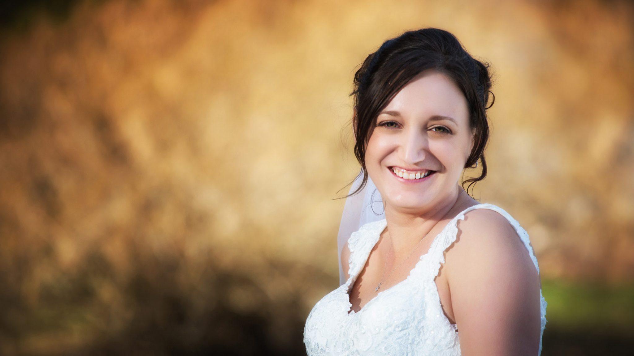 Wedding photo of bride.