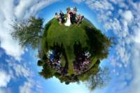 Wedding ceremony at Fish point in Portland Maine