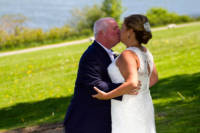 Wedding picture taken at Eastern Promenade, Portland, Maine