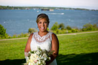 Suzan and Casco Bay behind her