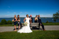 Wedding party at Eastern Prom