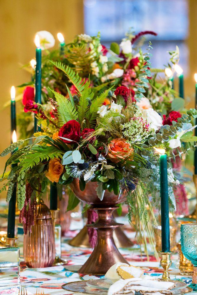table flowers vert
