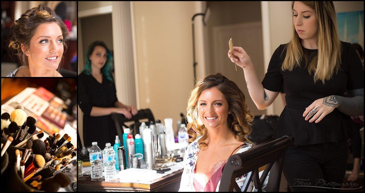 hair and wedding makeup