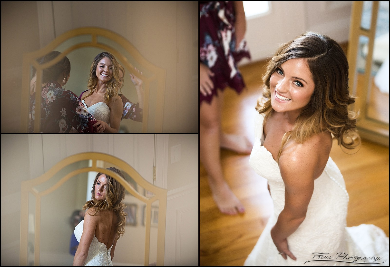 bride dressed in wedding gown
