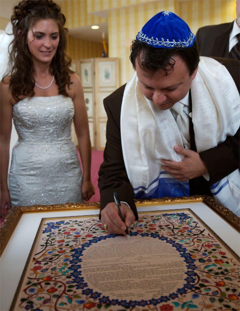 wentworth wedding photographers capture signing of Ketubah