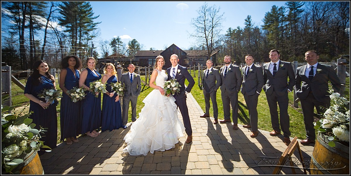 bridal party at wedding at Birchwood