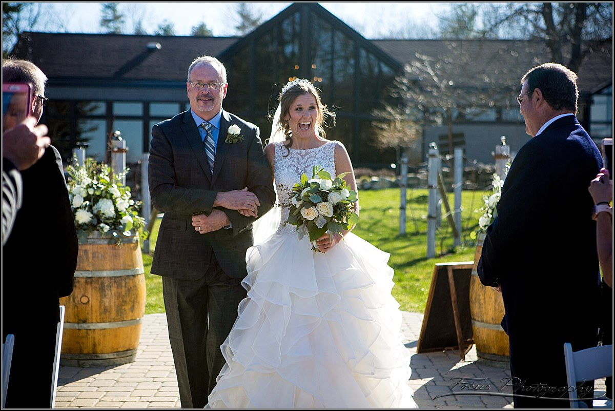father walks daughter down aisle
