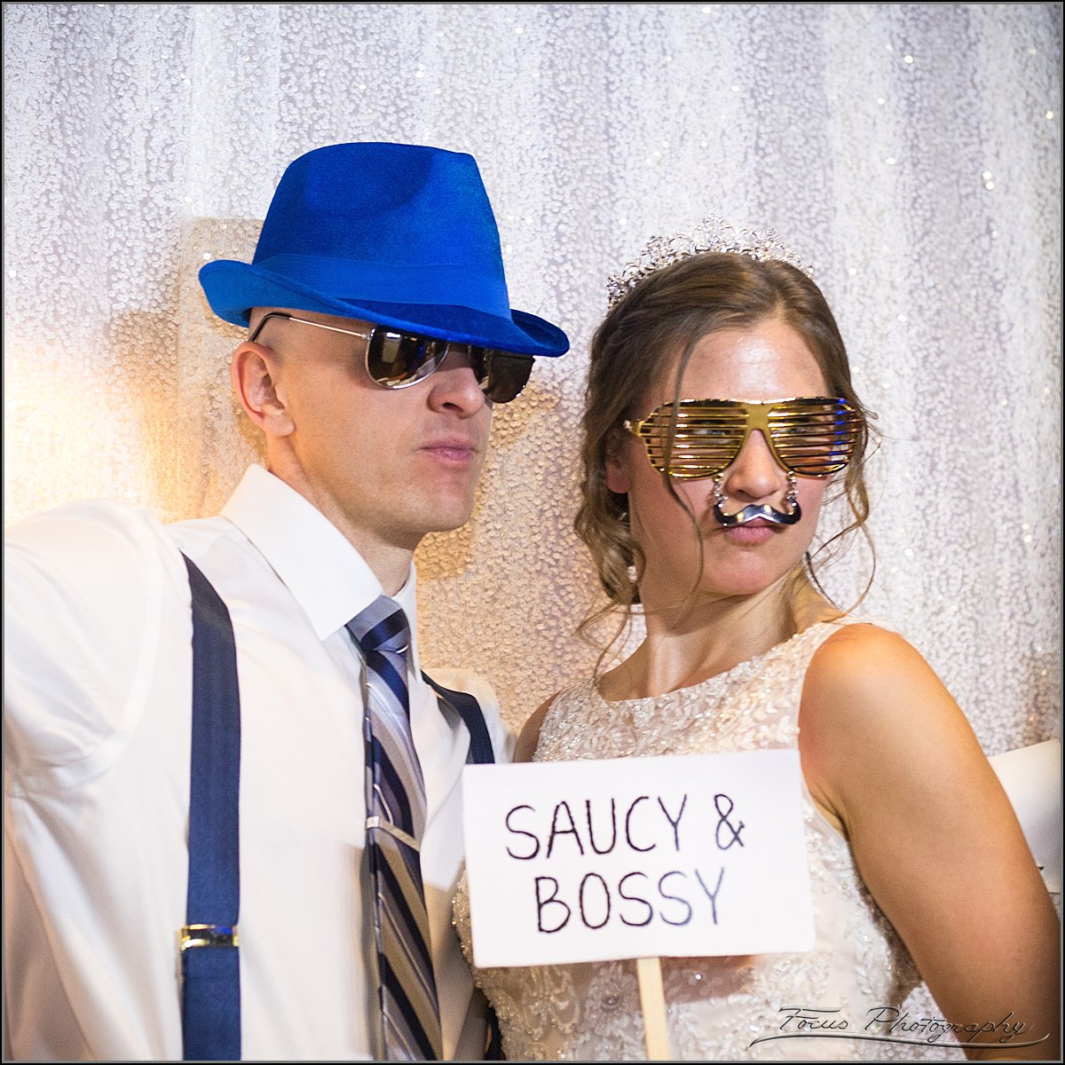 Saucy and bossy in photo booth